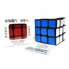 Yongjun-Rubik 3x3 base hitam murah