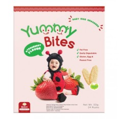 Yummy Bites Baby Rice Cracker 50 gram - Strawberry