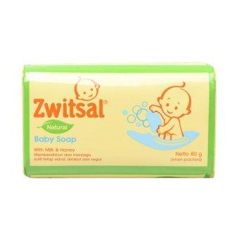Zwitsal Baby Bar Soap Natural Milk Honey 80gr-ZBB001