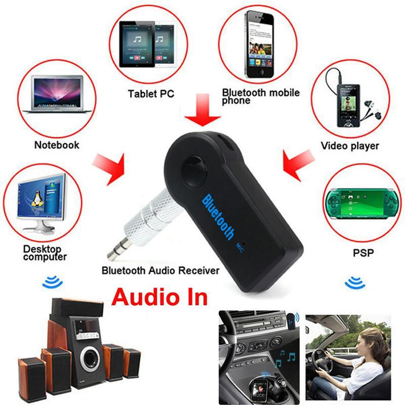 3.5mm Car Aux Stereo Receiver Adapter USB Wireless Bluetooth Audio Music