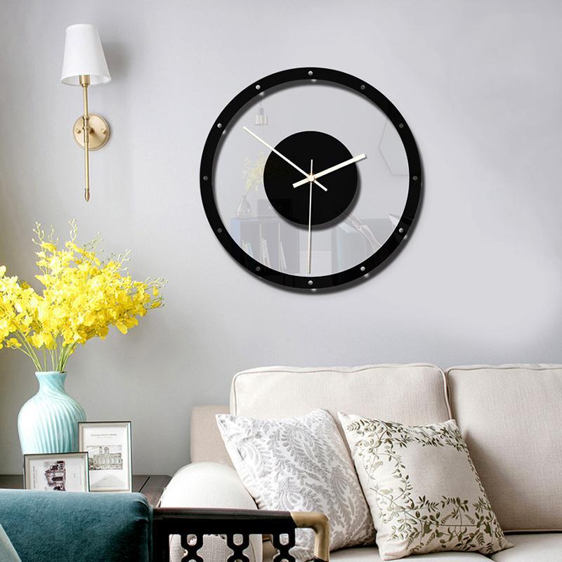 Oobest Penjualan Terlaris Minimalis Kreatif Jam Dinding Rumah Dekorasi Seni Ruang Tamu Transparan Jam Acrylic