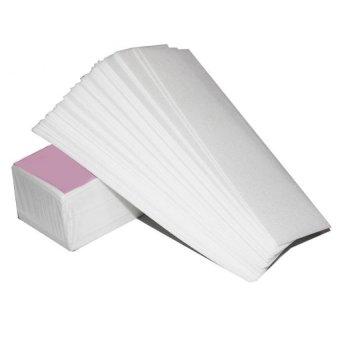 100 x non-anyaman kertas Wax Strip penghilang bulu penghilangrambut  epilator alat Waxing Kualitas tinggi kain bukan tenunan kain digunakan  untuk ... 95b335b439