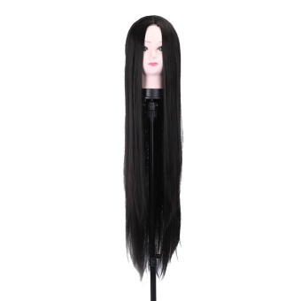 Harga 100cm New Fashionable Women Lady Cosplay Party Long Straight Full Wig(Black) – intl Murah