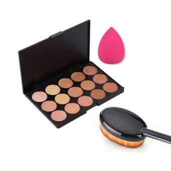Make Up Palet Kit Set 15warna Palet Untuk Menyamarkan 1 Buah Sikat Source · 15warna membuat