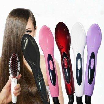 Harga 2017 New Style Professional Electric Hair Straightener Comb HairBrush Straightening Irons Hair Brush (Purple) – intl Murah