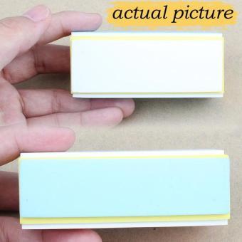 2/5 buah 4 cara paku seni penyangga digosok amplas perawatan Manicure Pedicure file blok