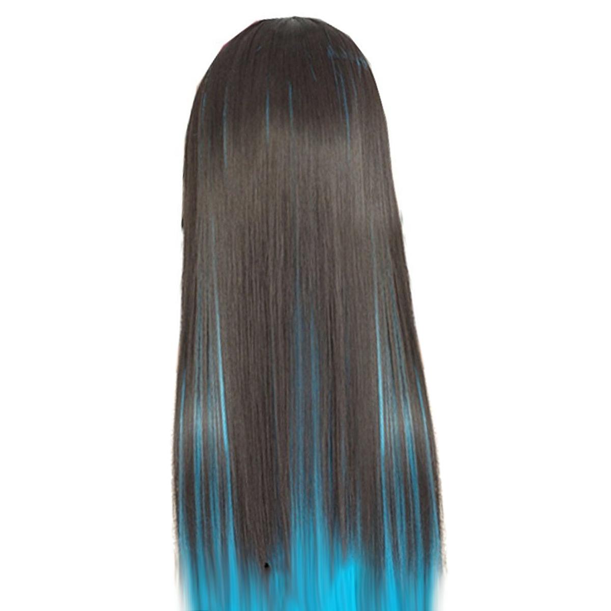 ekstensi rambut ikal bergelombang Source 60 cm Hitam dan Biru rambut  panjang wanita . 1a580e6d50