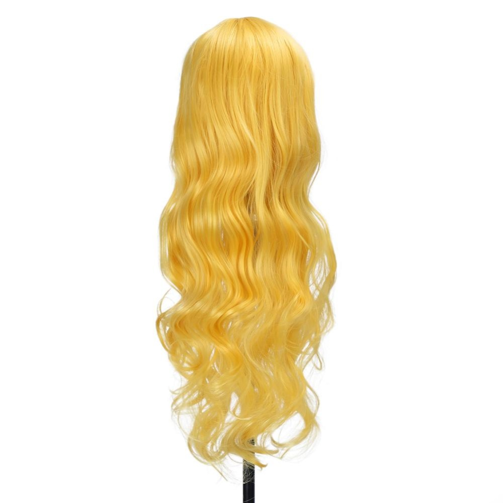 ... 80cm New Fashionable Women Lady Long Curly Wig Cosplay Party Costume Wigs(Light Yellow) ...