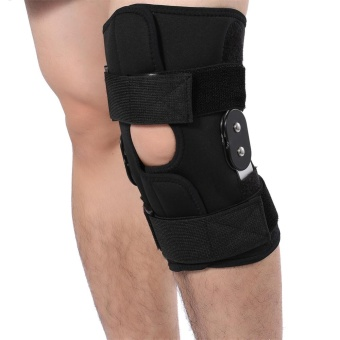 Adjustable Knee Brace Pad Support Leg Protector Compression SleevesSafety Strap (XL) - intl