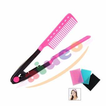 Harga AIUEO Sisir Ion Pelurus Rambut Alami – Pink Bundling Dariya Hair Penahan Rambut Dan Poni 1 Pcs Murah