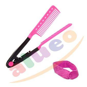 Harga AIUEO – Sisir Ion Pelurus Rambut Alami – Pink Bundling Headband Bundle Random Color Murah