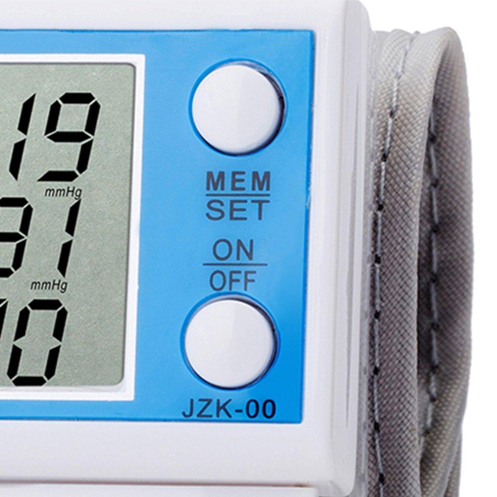 Allwin LCD Monitor Tekanan Darah Digital Pergelangan Tangan Otomatis Pulsa Penghitung Detak Jantung .
