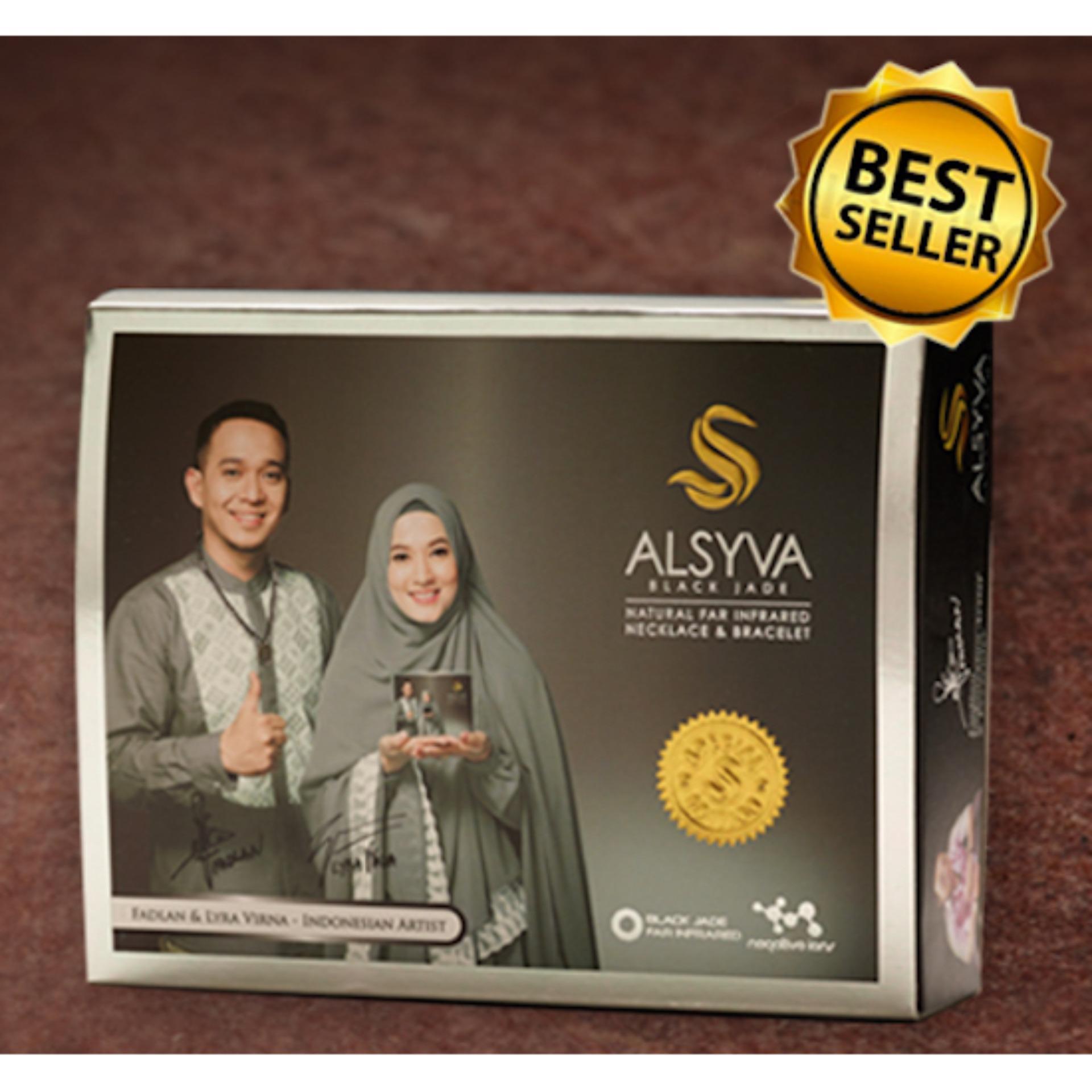 Flash Sale Alsyva Black Jade Kalung Gelang Kesehatan Belanja Terbaik Untuk