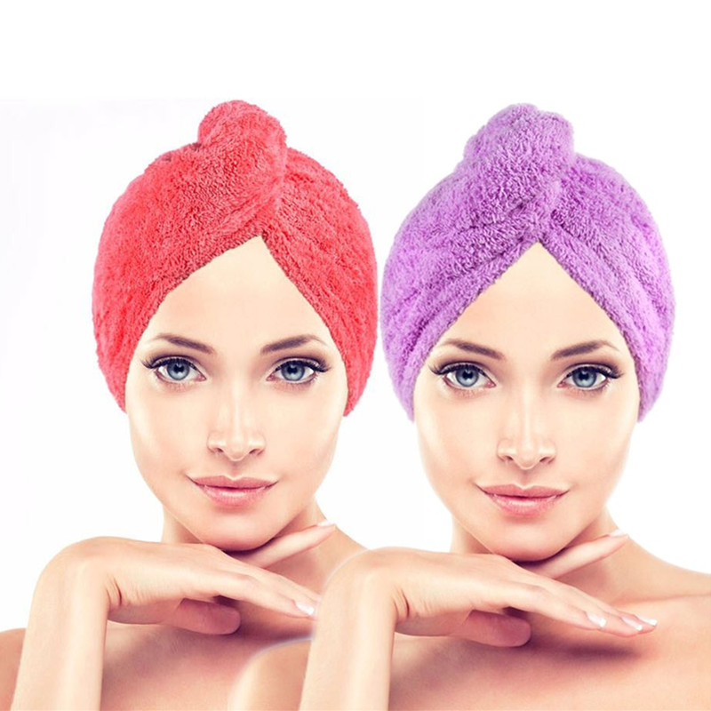 Anak-anak dewasa dengan rambut panjang cepat kering topi mandi shower cap  topi rambut kering 3e9114fa6d