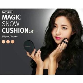 April Skin Magic Snow Cushion Black 2.0 Mochi RENEWAL / BedakCushion April Skin Magic Make Up Ala Korea Best Seller Original -22Light Pink