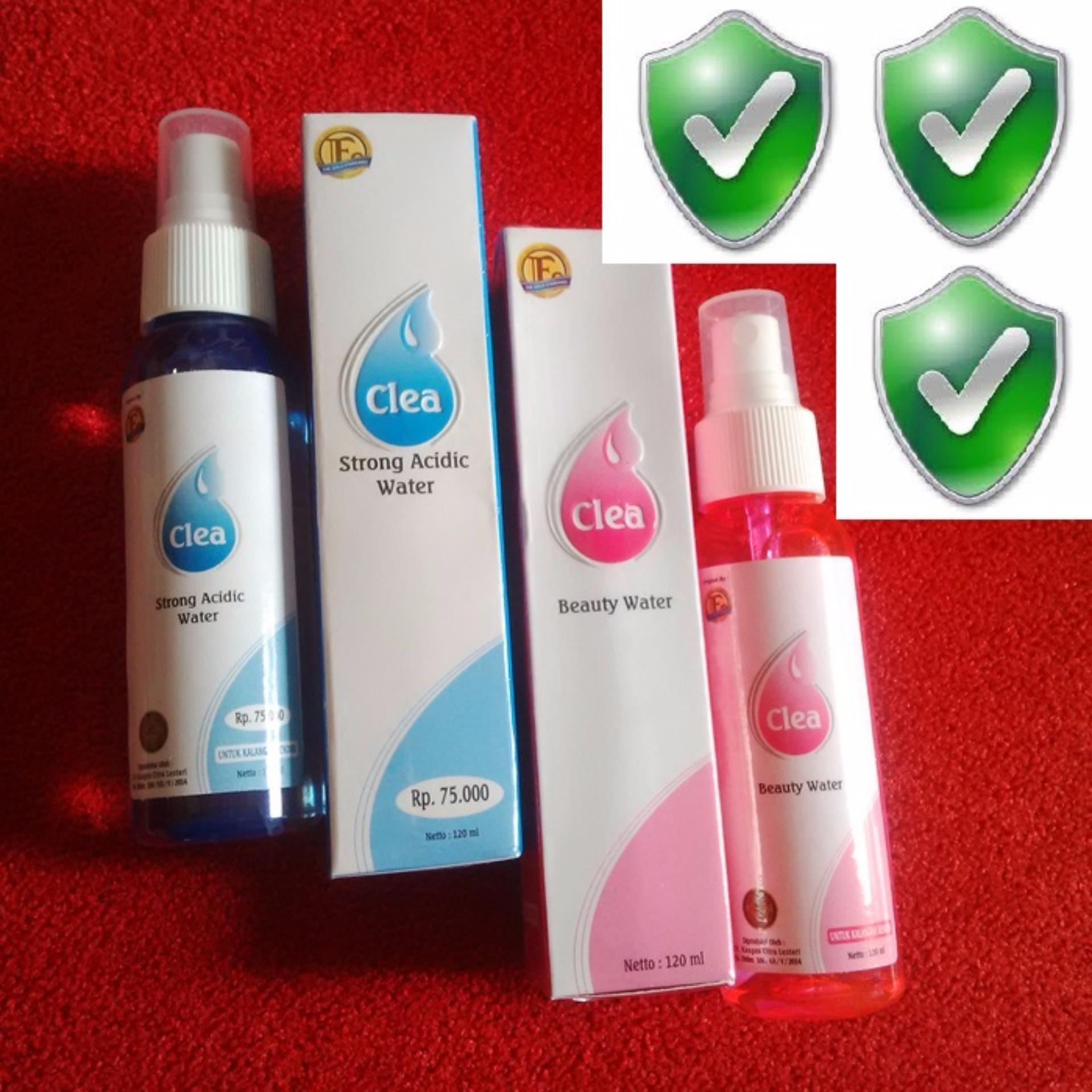 Beauty Water + Strong Acid 1 paket 120ml (Box + Segel)