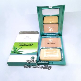 Bedak Claresta Two Way Cake With UV Filter + VIT E - Natural