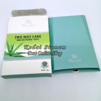 Bedak Claresta Two Way Cake With UV Filter + VIT E - Natural - 2