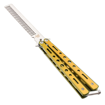 Benchmade Balisong Butterfly Comb / Sisir Lipat Stainless Steel - Gold