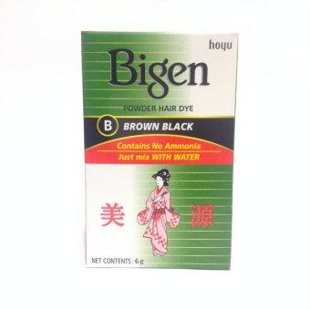 Harga Bigen Powder Hair Dye Brown Black Murah