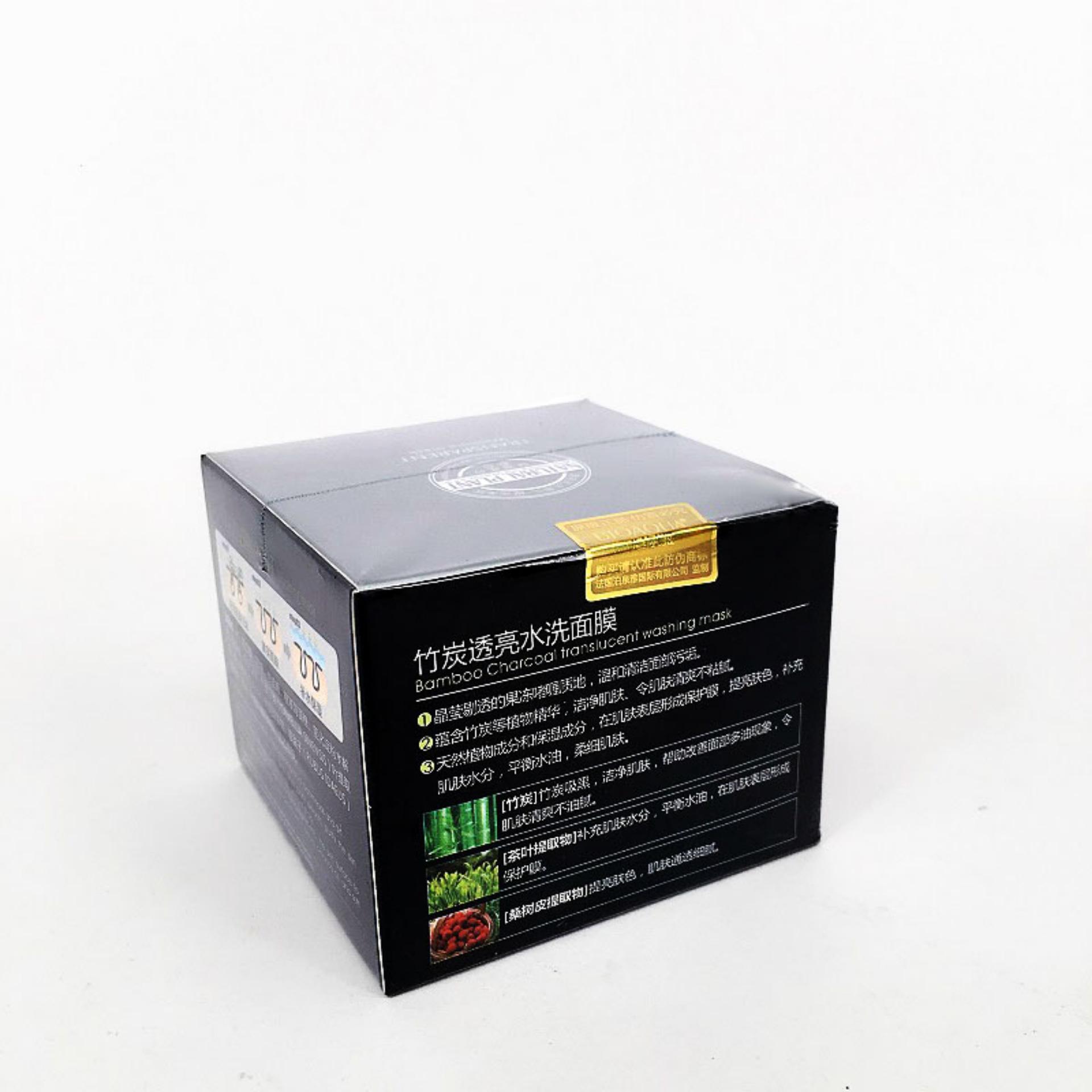 Pelacakan Harga Bioaqua Bamboo Charcoal Translucent Washing Mask Masker Bambu