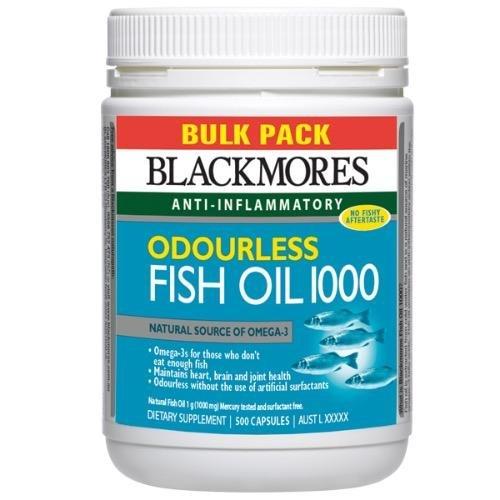 Blackmores Odourless Fish Oil 1000mg Bulk Pack 500 Capsules