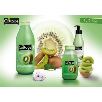Cottage Gentle Exfoliating Shower Gel Kiwi 250ml - France Scrubbing Hilangkan Daki Sabun Scrub - 4