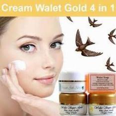 Cream Paket Wallet Super Gold 4 in 1 / Paket Siang dan Malam Walet 4in1