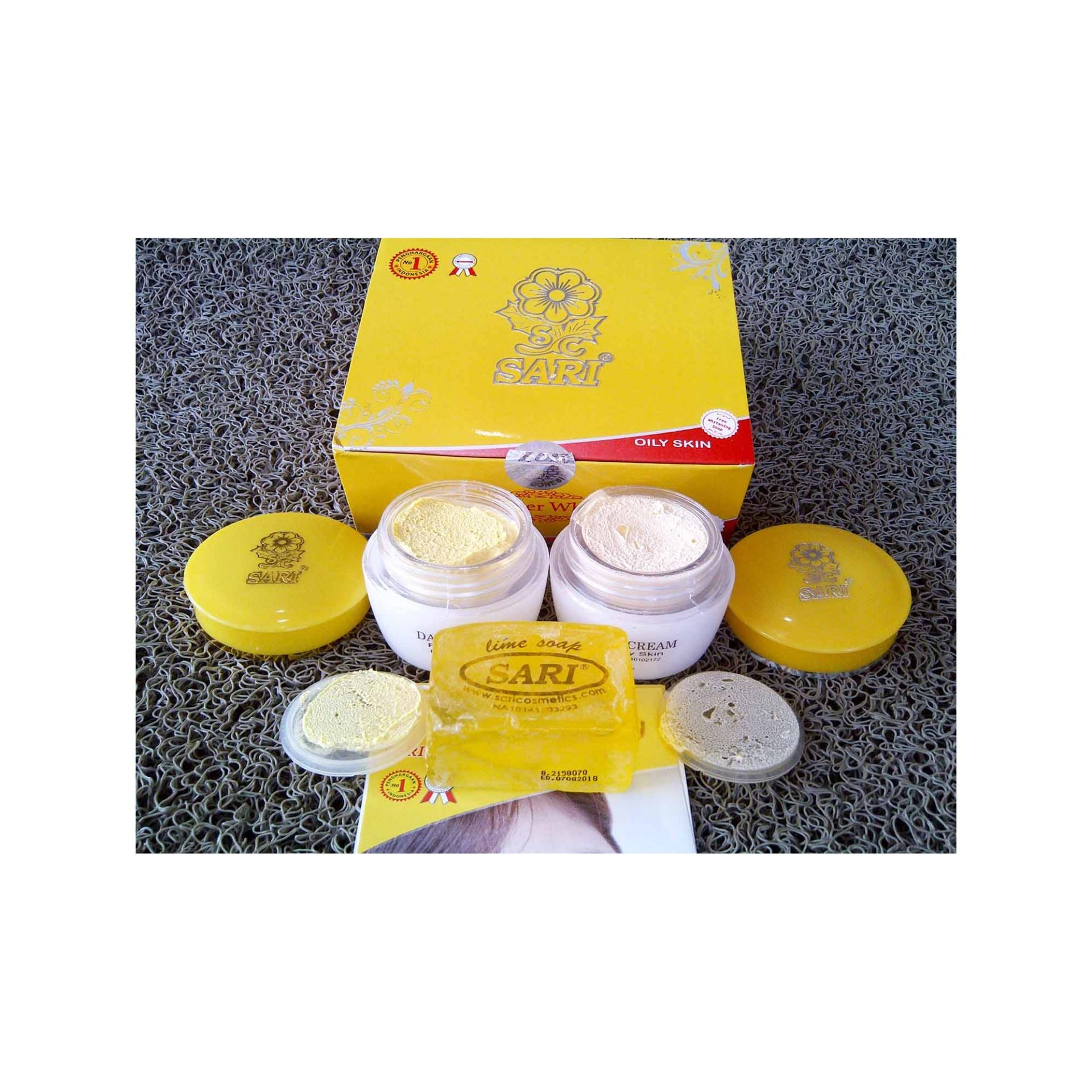 Cream Sari Whitening Kulit Berminyak / Krim Pemutih Wajah