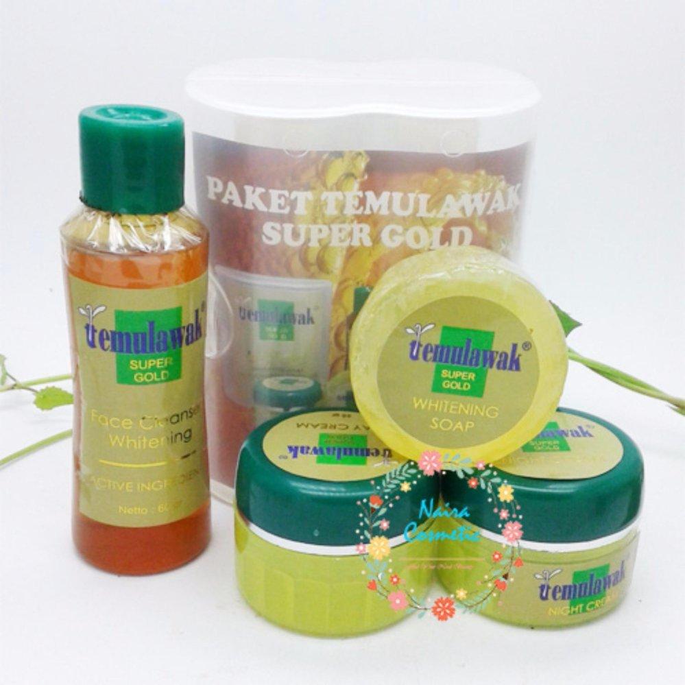 Cream Temulawak Super Gold - Paket Temulawak Komplit [ Cream Siang, Malam, Sabun +