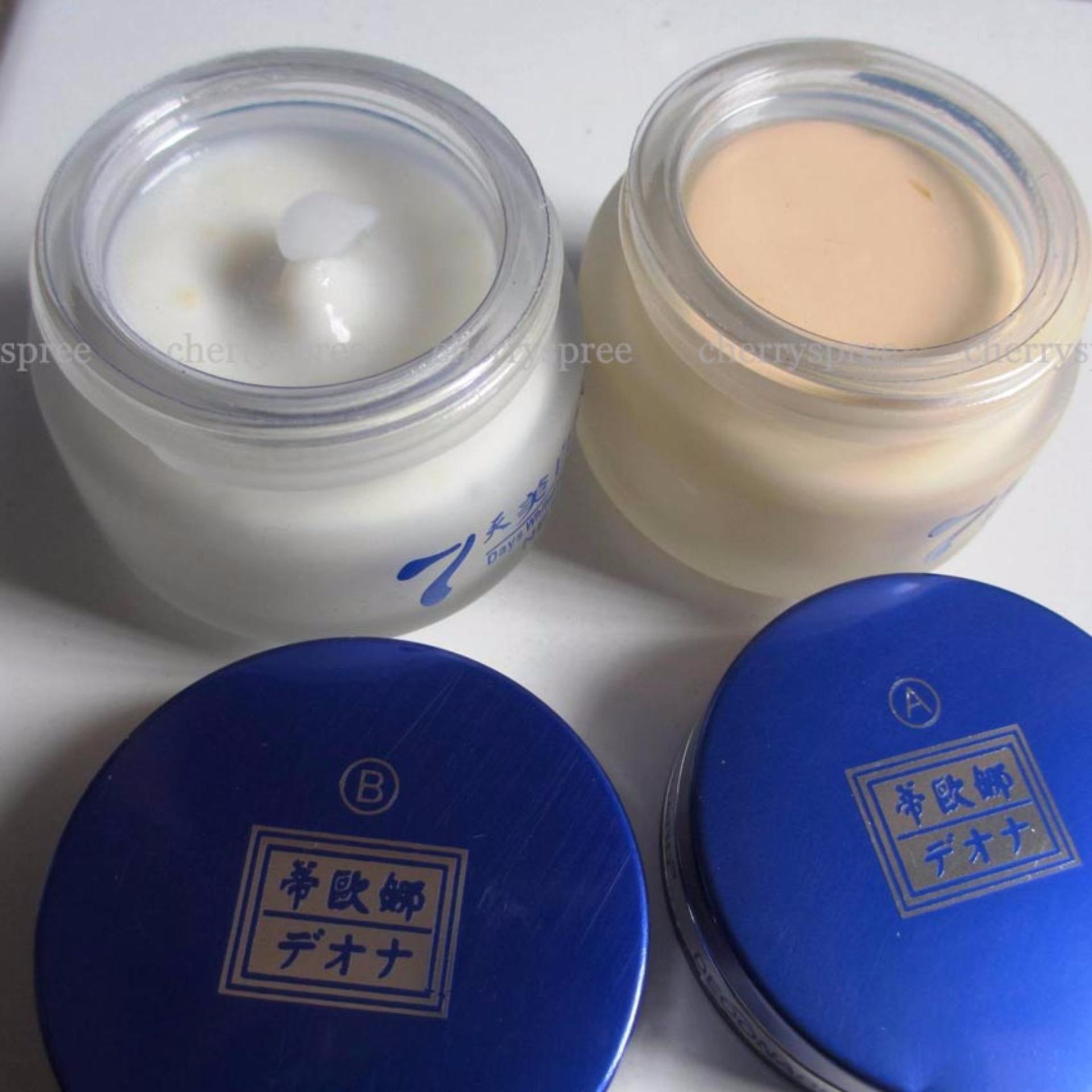 Deoonard Blue Original 7 Days Whitening & Spot Removing Range Paket Perawatan Wajah Cream Siang Malam ...