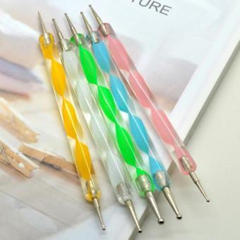 Dotting Tools Nail Art - Alat Menghias Kuku isi 5pcs Pensil Menghias Kuku Alat Lukis Penghias Kuku Dan Kutex Alat Manicure Pedicure Alat Lukis Kuku Jari Tanpa Kesalon