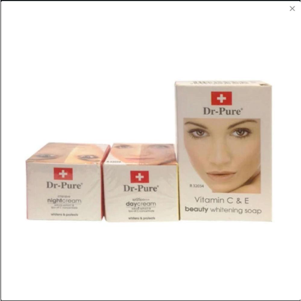 Dr Pure Cream Paket Pemutih Wajah Original 100%( Cream Siang .Cream Malam .