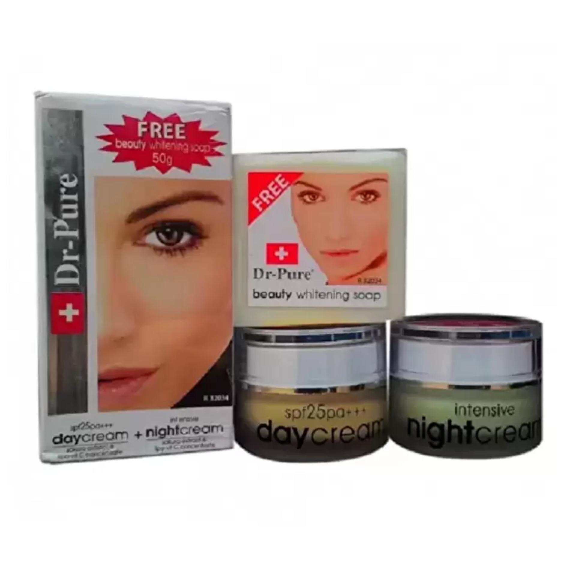 ... Dr Pure Paket Face Whitening Cream BPOM dan Sabun Perawatan Wajah Original Krim Pemutih Pencerah Alami ...