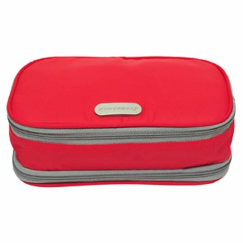 D'renbellony Expandable Cosmetic Bag Pouch (Red) / Dompet kosmetik .