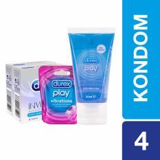 Durex Kondom Invisible (2 box) + Lube 50 mL + Vibration Ring