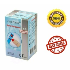 Easy Touch Strip Kolesterol Asli - Isi 10