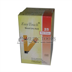 Easy Touch Test Strips Urid Acid - Strip Asam Urat - Oranye - Isi 25 Buah