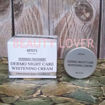 Ertos Night Cream Extra Whitening /Cream Pencerah Wajah BPOM