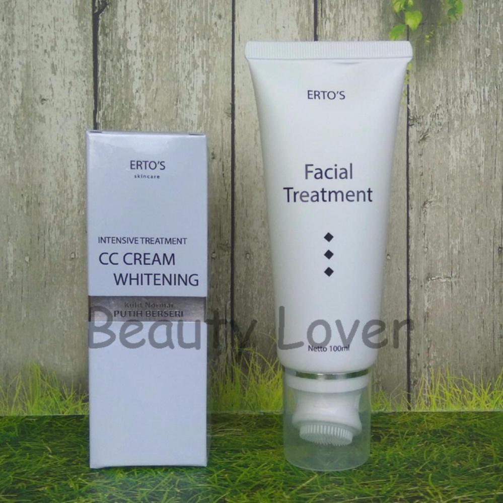 Ertos Facial Treatment Cc Cream Paket Lengkap Daftar Harga Terkini Hemat Kekinian And Night Siang