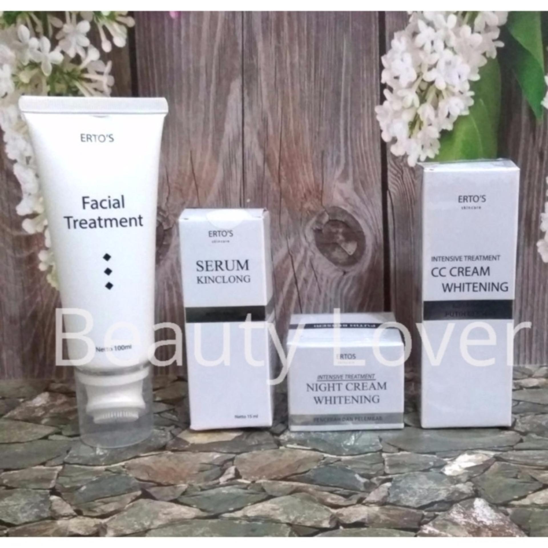 Ertos Paket Glowing Cc Cream Night Serum Kinclong Facial Hemat Kekinian Treatment And