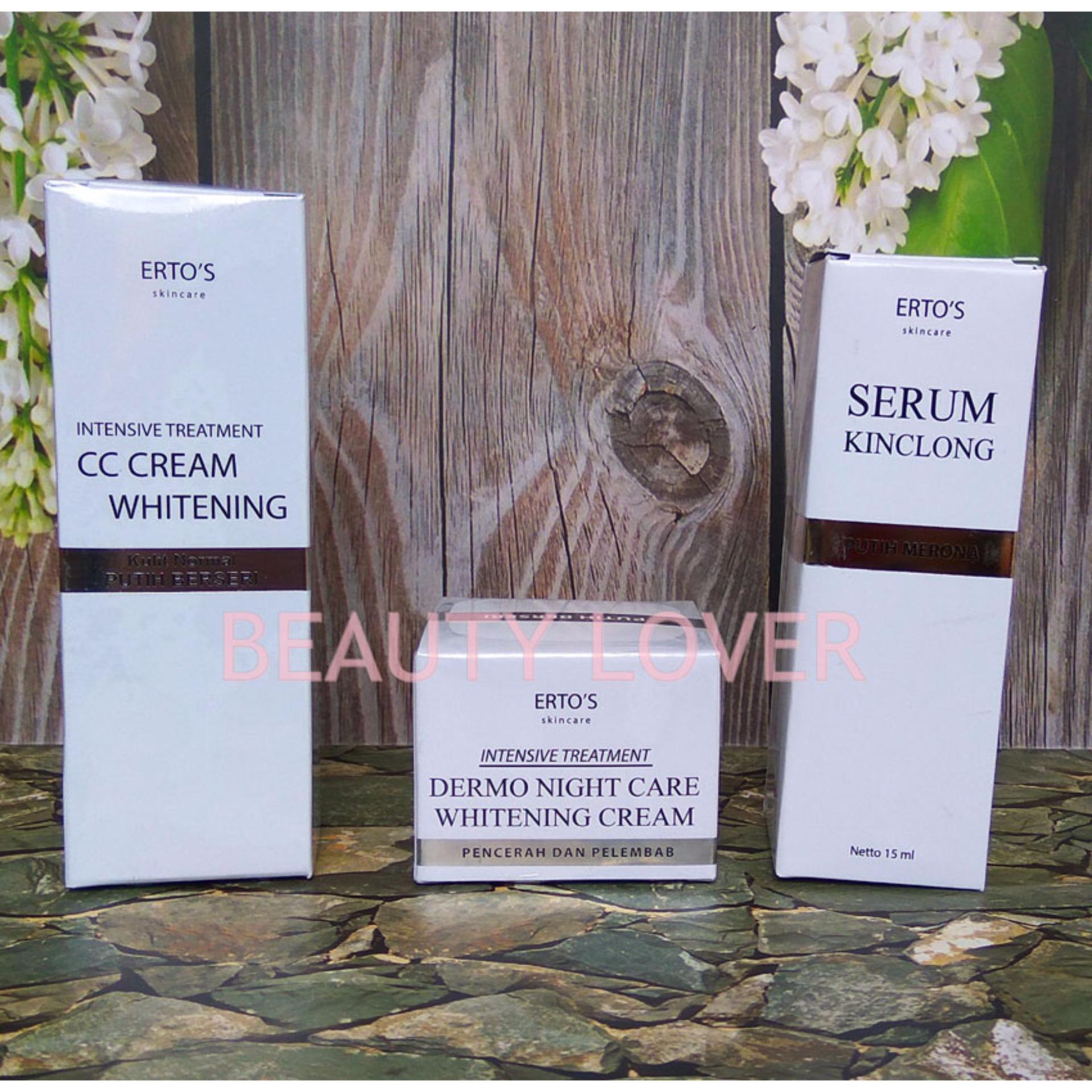Bandingkan Simpan Ertos Paket Kinclong Cc Cream Night Serum Eyelash