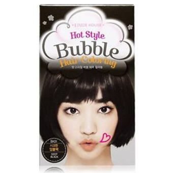 Etude Hot Style Bubble Hair Coloring 01 Deep Black - Cat Rambut Hair Color
