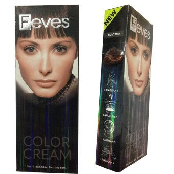 Harga Feves Color Cream Cat Rambut 4.3 Coffee Murah