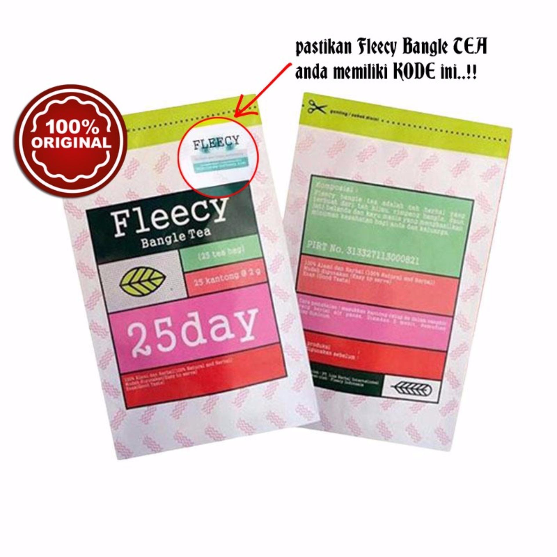 Pencari Harga Fleecy Bangle Slimming Tea Original With Sticker Anti Teh Pelangsing Slim Sariayu Isi 30 Bags Fake 25 Sachet