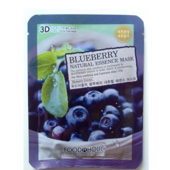 Harga Saya Food a Holic 3D Mask - Blueberry (Masker Wajah Asli Korea, BukanKW