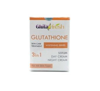 Night Cream Toko Source Serum Day Source Gluta Fresh Whitening 3 in 1 .