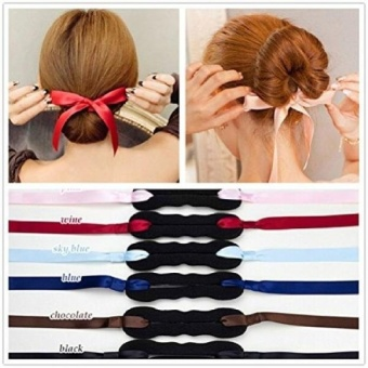 Harga GPL/ 3Pieces Elegant Cloth Magic Clip French Twist Bum MakderHolder Roll Rings Donut Updo Chignon Former Pads Foam SpongeHairstyling Curler Braid Ponytail Hair Style Styling Tool PartyHair Accessories/ship from USA(OVERSEAS) – intl Murah
