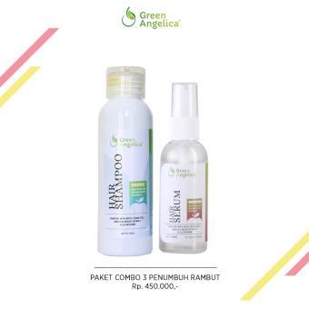 Green Angelica Paket Combo 3 Minyak Penumbuh rambut rontok dan botak alami