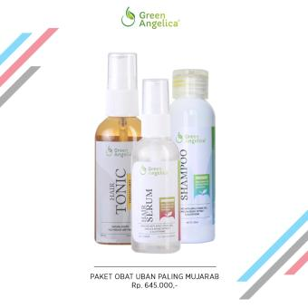 Harga Green Angelica Paket Penghitam Uban Maksimal ( Hair Tonic Variant Grey , Hair Serum , Hair Shampo ) Murah